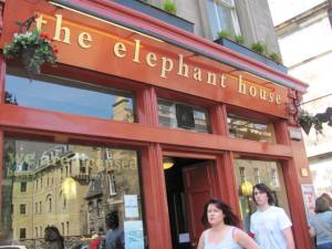 The Elephant House in Edinburgh, where Harry Potter was born.