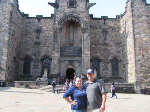 The hubs and me at the castle
